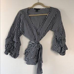Forever 21 gingham ruffle top